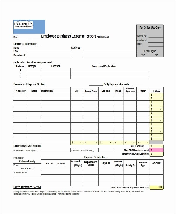 Excel Expense Report Template Free Lovely Excel Report Template 5 Free Excel Document Downloads