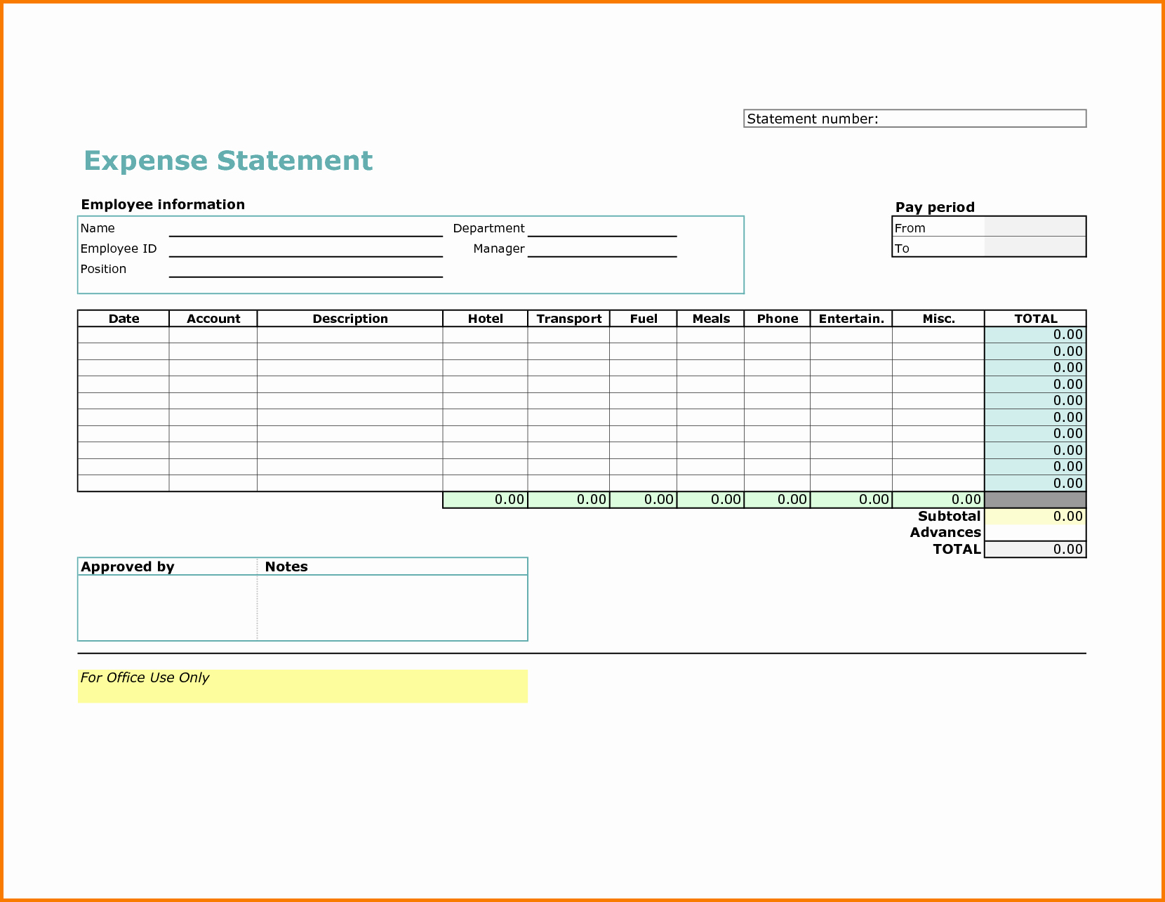 Excel Expense Report Template Free Luxury 5 Excel Expense Report Template