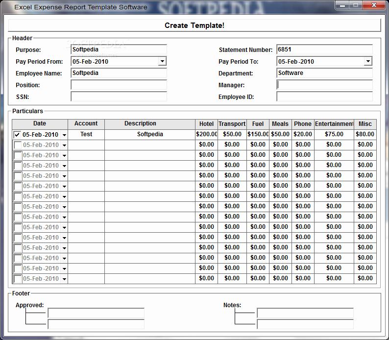 Excel Expense Report Template Free Unique Excel Expense Report Template software Download