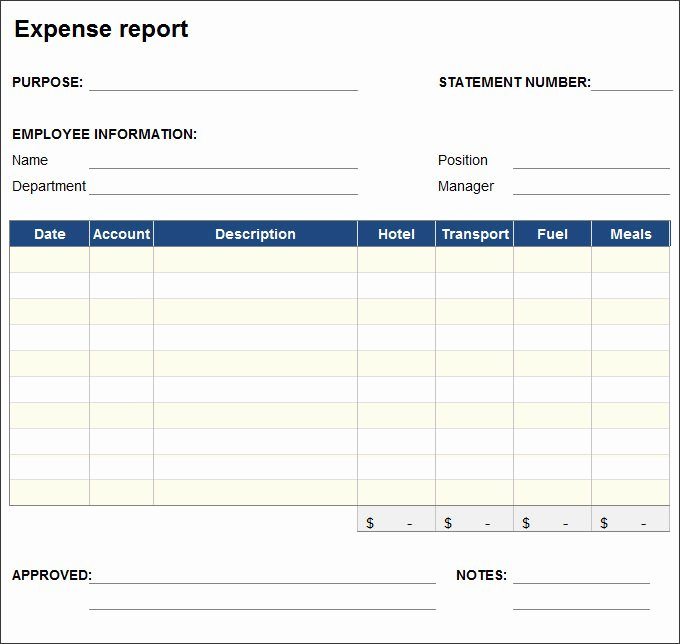 Excel Expense Report Template Inspirational Free Expense Report Template Sample In Excel formats