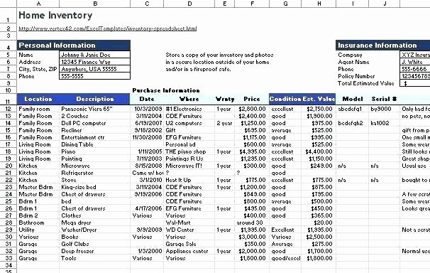 Excel Home Inventory Template Elegant Excel for Inventory Template Free Management Database