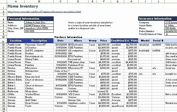Excel Home Inventory Template Fresh Related Video Household Inventory Template Home Food Excel