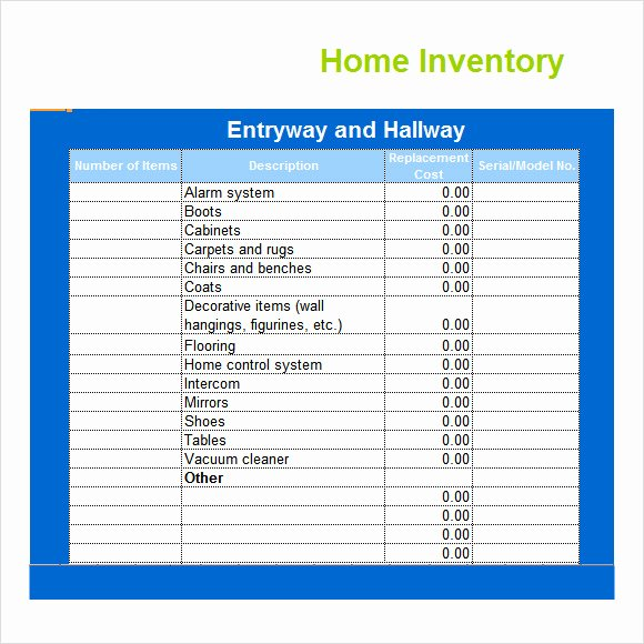 Excel Home Inventory Template Luxury 9 Inventory Spreadsheet Templates