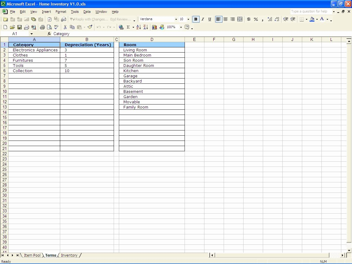 Excel Home Inventory Template Unique Home Inventory