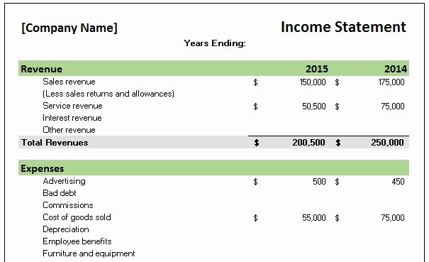Excel Income and Expense Template Beautiful Free Accounting Templates In Excel