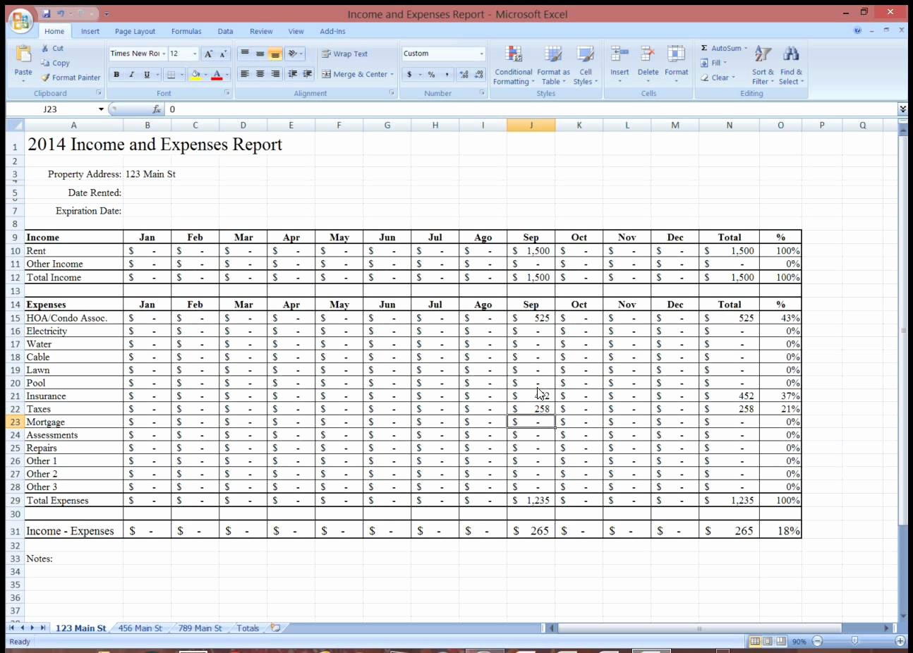 Excel Income and Expense Template Beautiful In E and Expensesdsheet for Rental Property Monthly