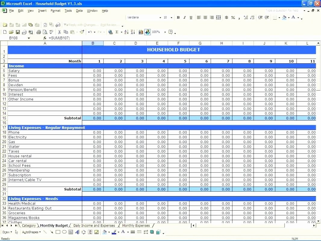 Excel Income and Expense Template Beautiful Template Expenses Sheet Template