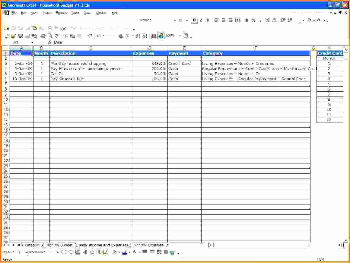 Excel Income and Expense Template Luxury Template In E and Expenses Template Excel