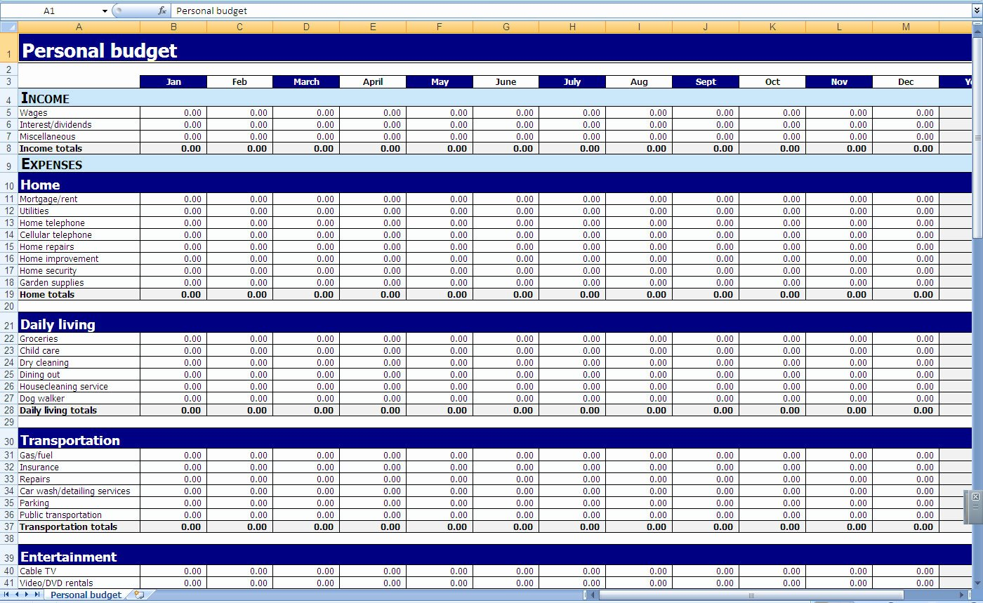 Excel Income and Expense Template Unique Free Templates In E and Expenses Worksheets