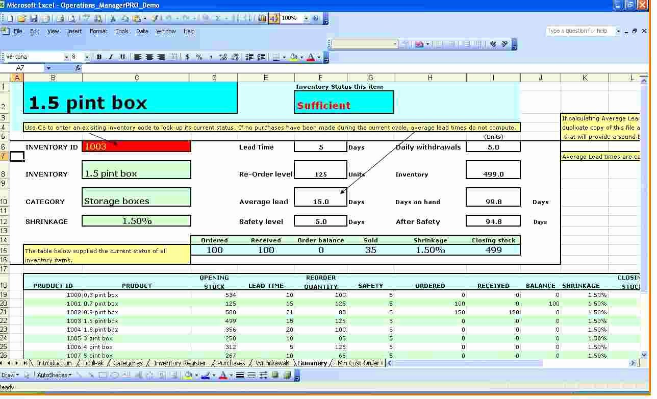 Excel Inventory Tracking Template Elegant Inventory Spreadsheet Template for Excel Spreadsheet