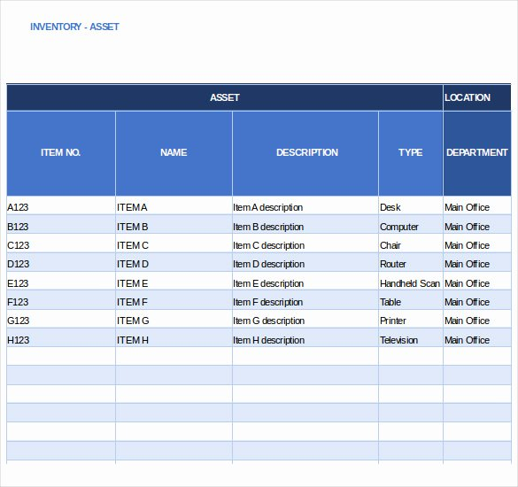 Excel Inventory Tracking Template Fresh Inventory Tracking Template – 15 Free Sample Example