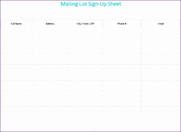Excel Mailing List Template Unique 7 Excel Mailing List Template Free Exceltemplates