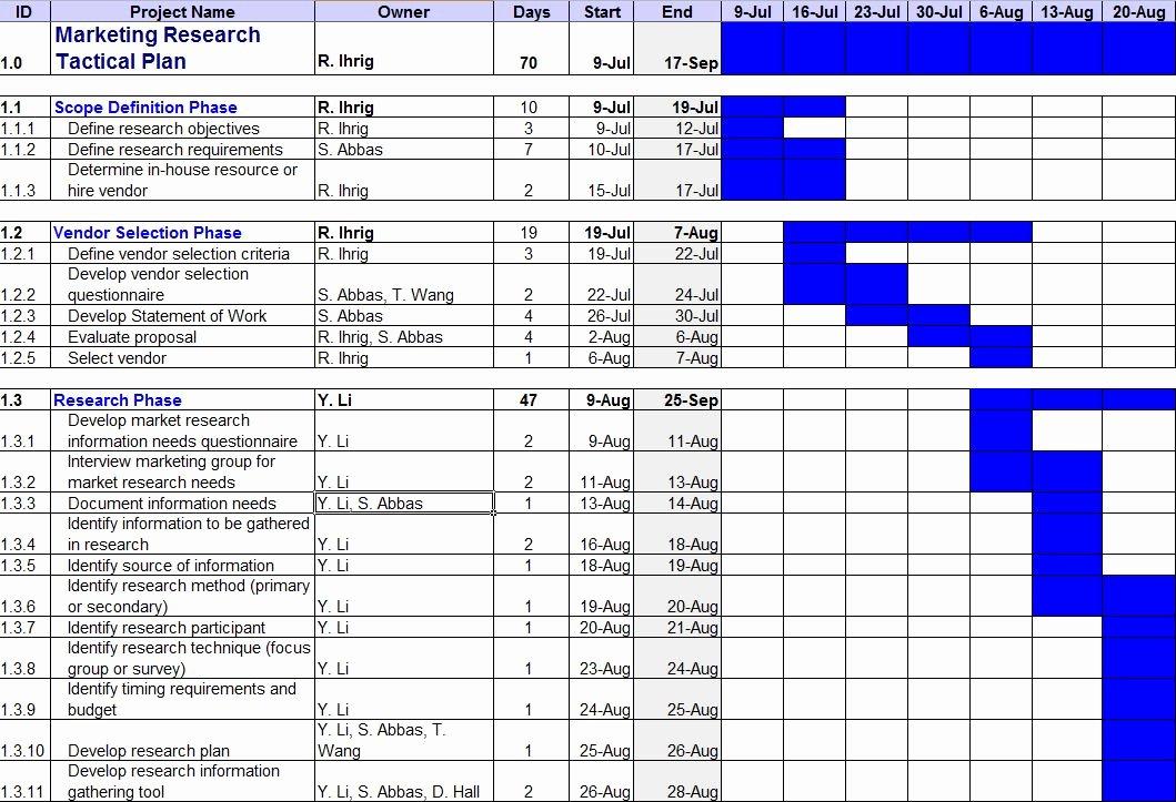 Excel Marketing Plan Template Elegant Business Marketing Research Plan Template