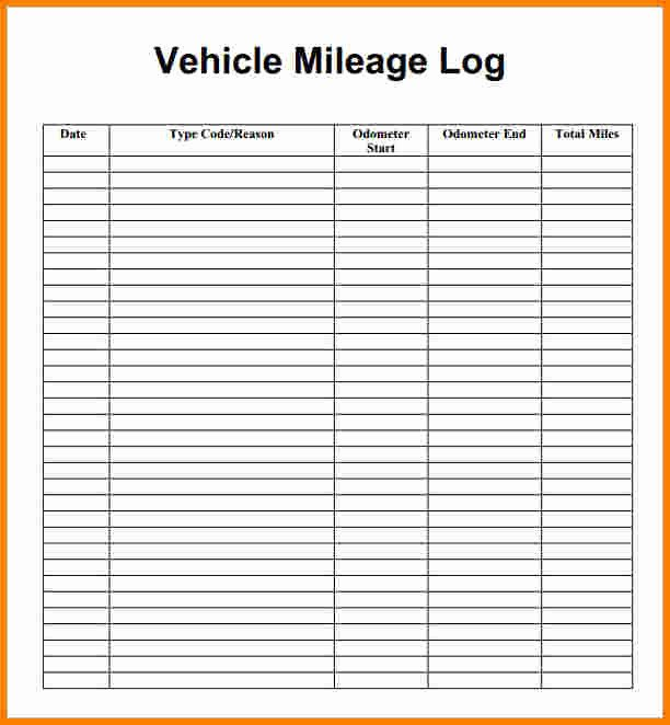 Excel Mileage Log Template Awesome Excel Mileage Log