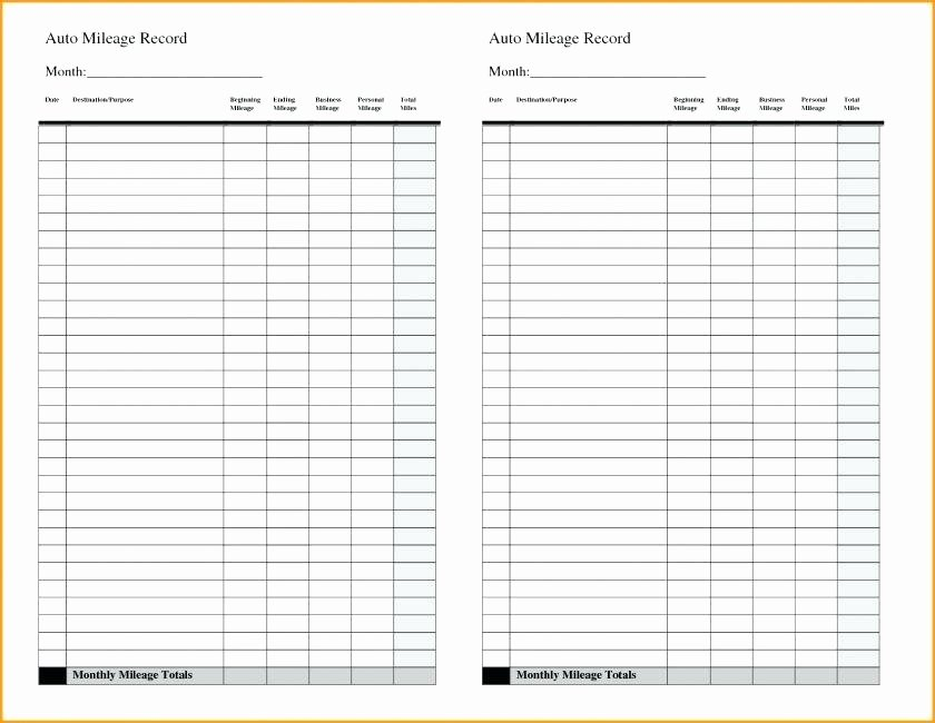Excel Mileage Log Template Beautiful Vehicle Mileage Log Book Excel Template form – Skincense