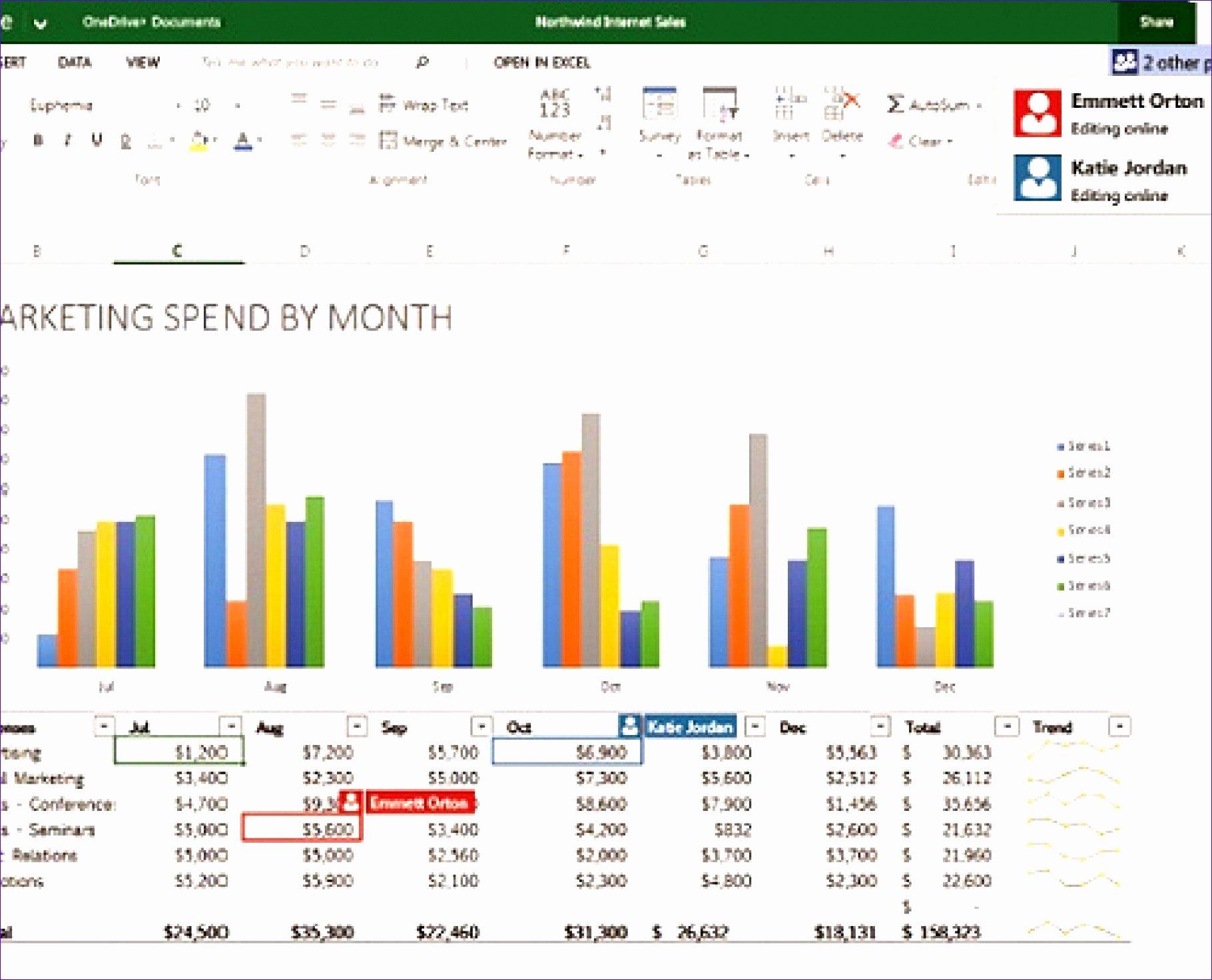 Excel P&l Template Fresh 6 Monthly Cash Flow Template Excel Exceltemplates