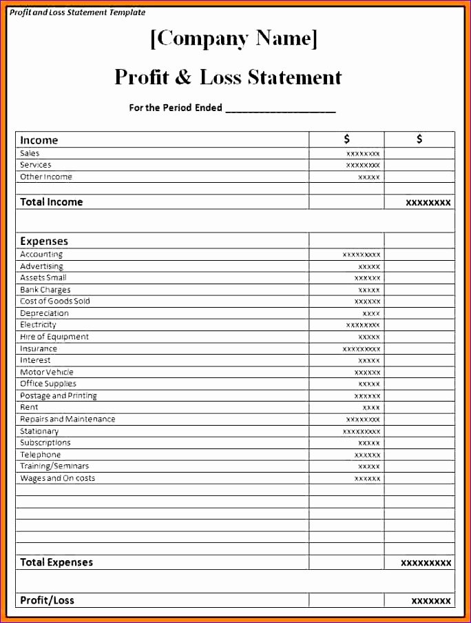 Excel P&l Template Unique 8 Expense Bud Template Excel Exceltemplates