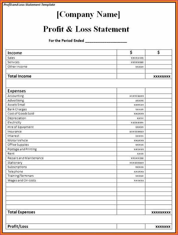 Excel P&l Template Unique 8 Expense Bud Template Excel Exceltemplates