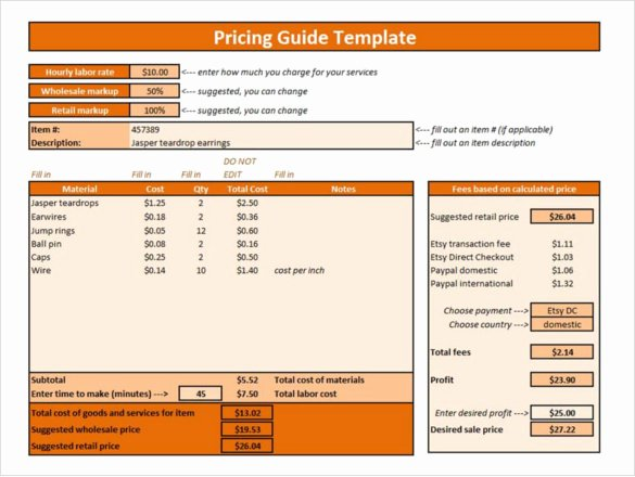 Excel Price Sheet Template New 25 Price List Templates Doc Pdf Excel Psd
