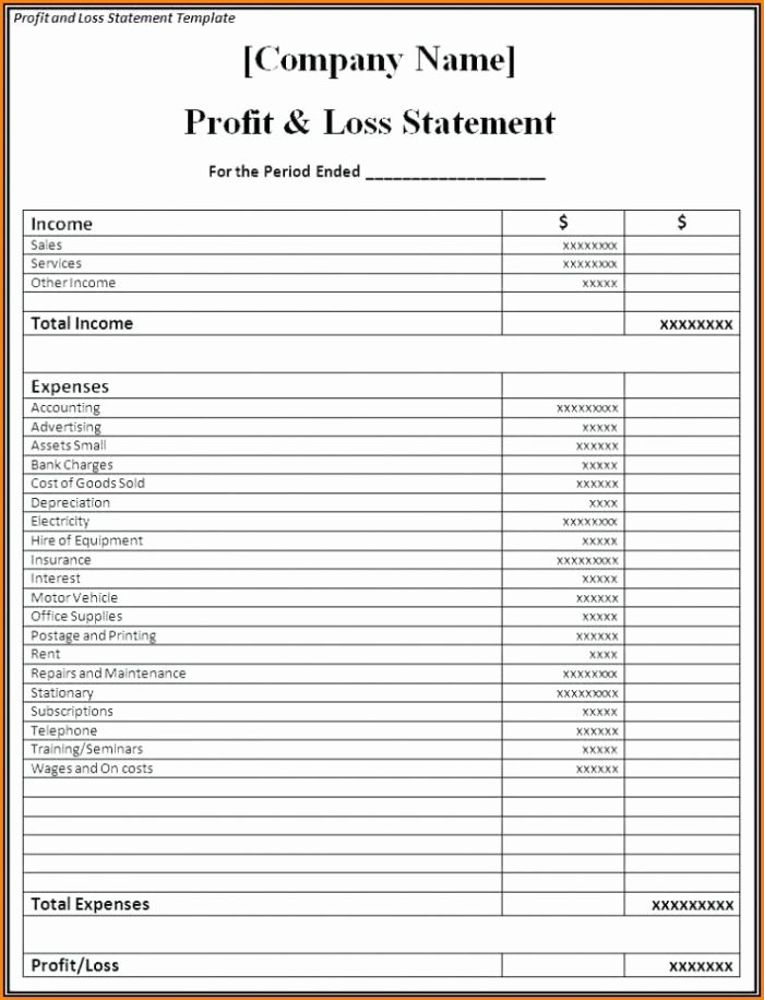 Excel Profit Loss Template Awesome Excel Profit and Loss Template Uk Template 1 Resume
