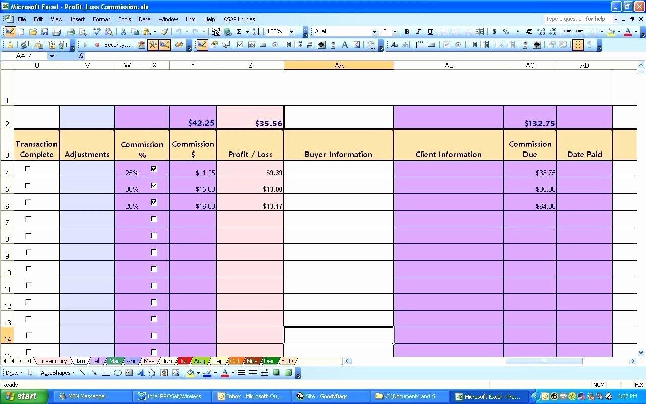 Excel Profit Loss Template Elegant Profit Loss Excel Template
