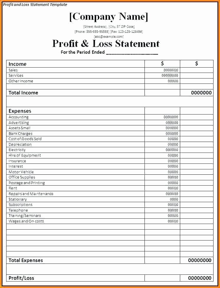 Excel Profit Loss Template Fresh Excel Profit and Loss – Whatafanub
