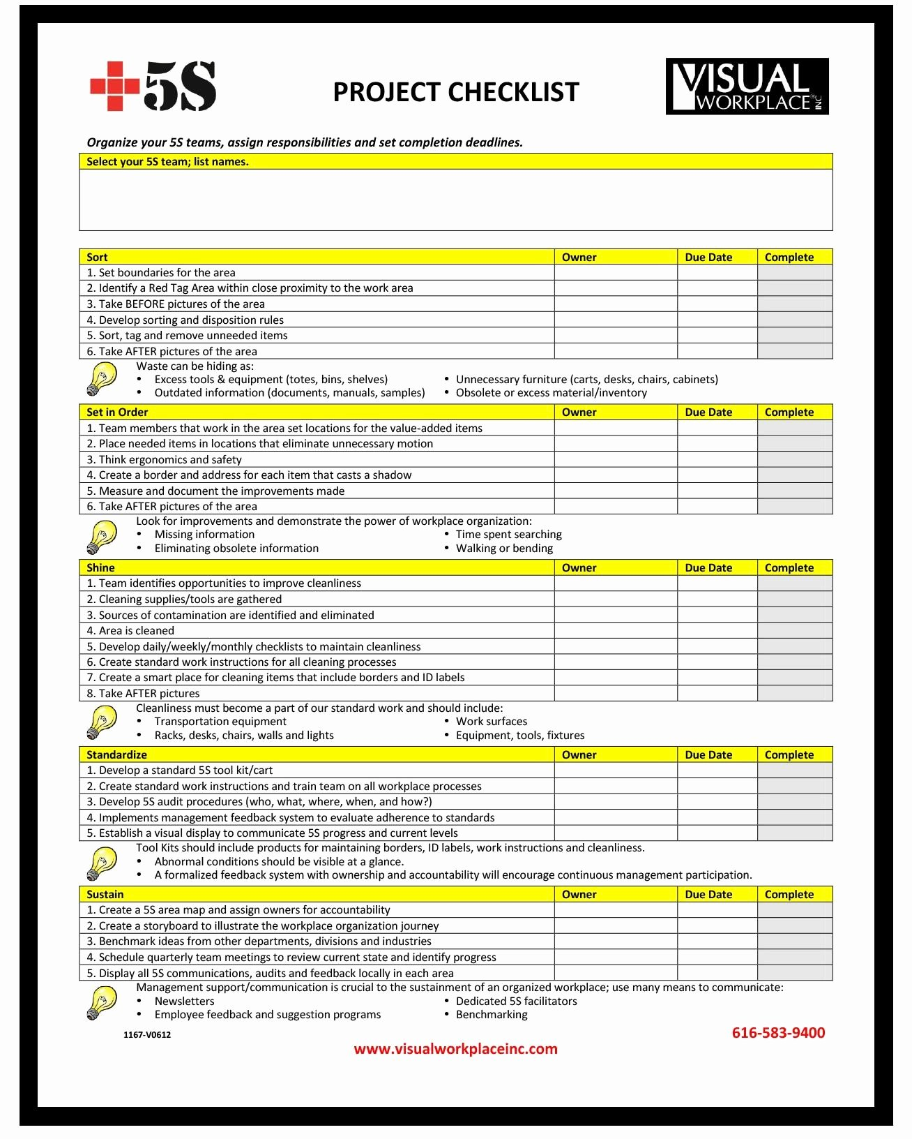 Excel Project Checklist Template Luxury Checklist Project Checklist Template