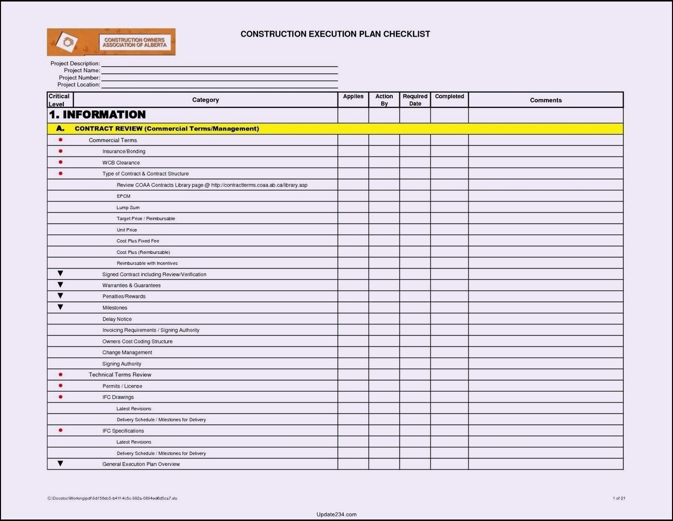 Excel Project Checklist Template Luxury Project Checklist Template Excel