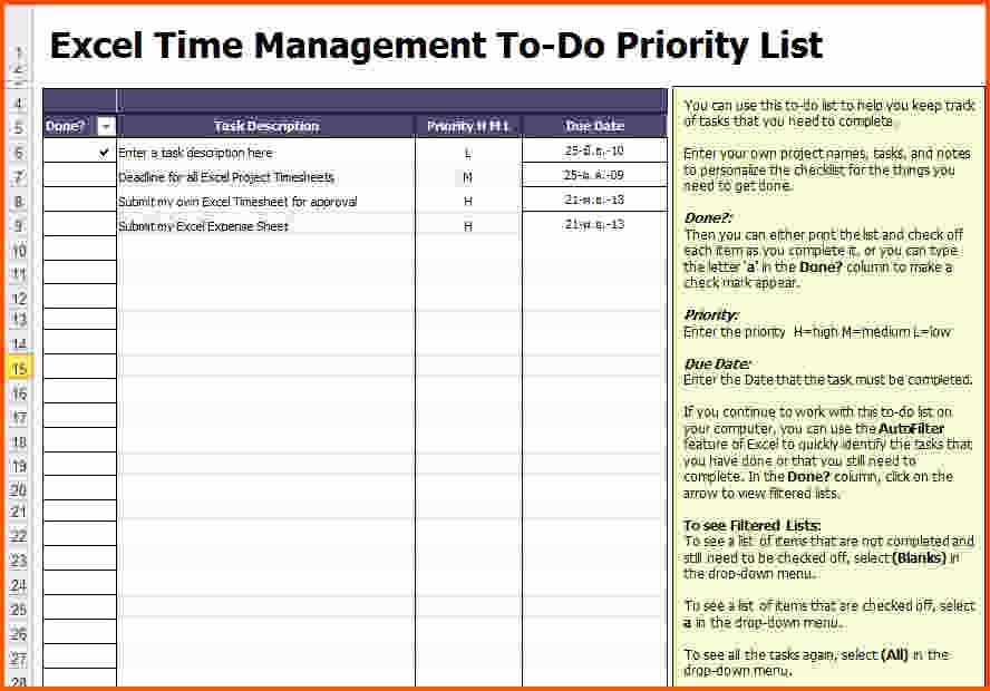 Excel Project Checklist Template New Excel Task List Etame Mibawa