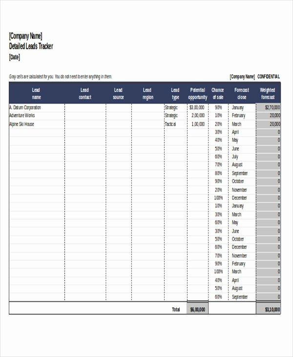 Excel Sales Tracking Template Unique 6 Excel Sales Tracking Templates