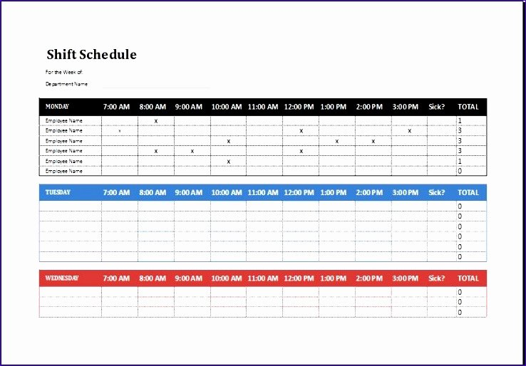 Excel Shift Schedule Template Awesome 8 Employee Shift Schedule Exceltemplates Exceltemplates