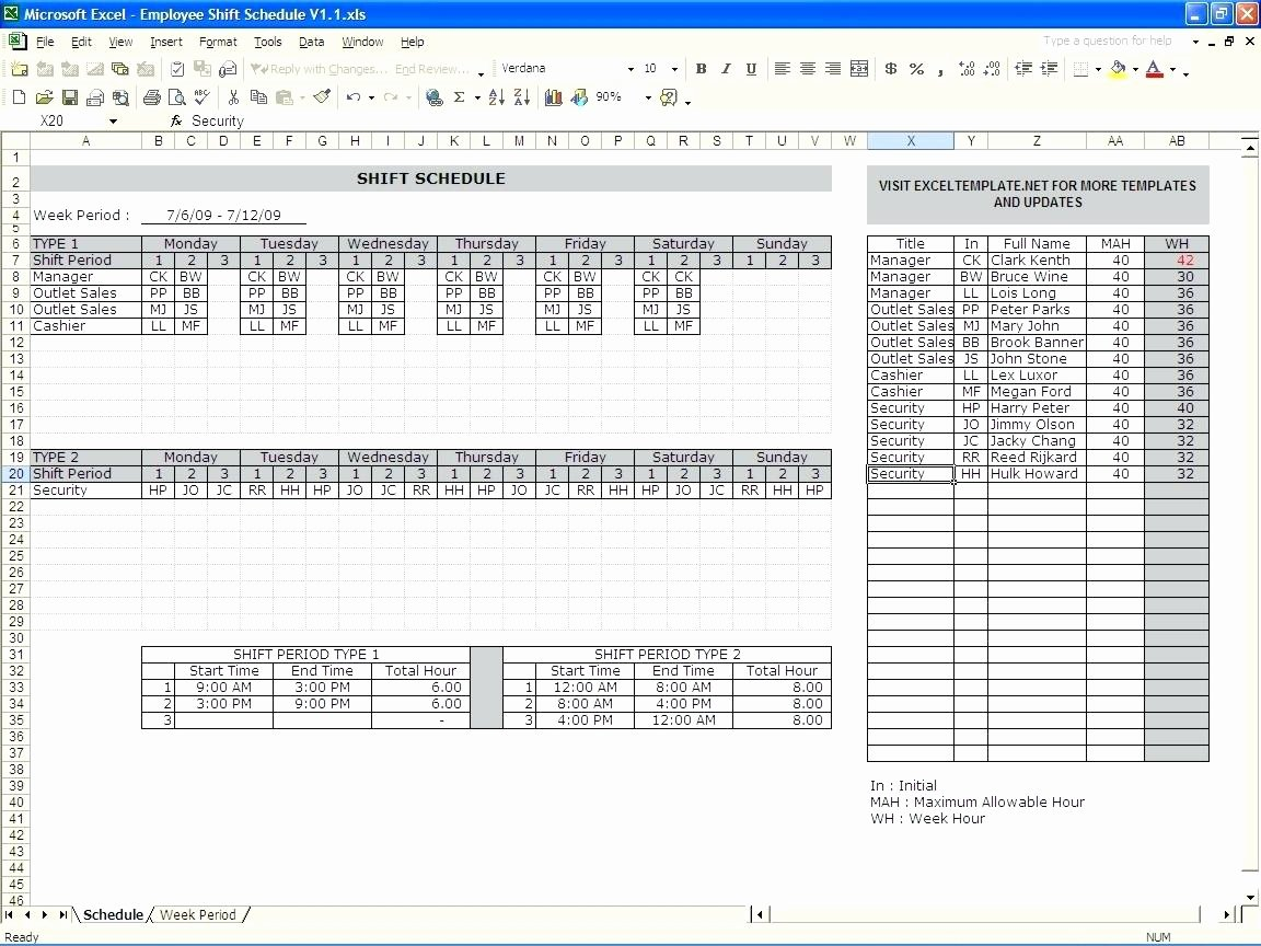 Excel Shift Schedule Template Elegant Template Excel Monthly Employee Schedule Template