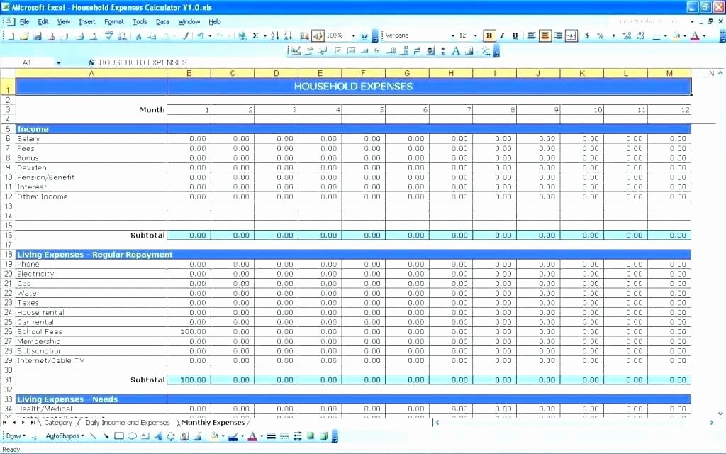 Excel Small Business Budget Template New Accounting In Excel for Small Business Free Spreadsheet