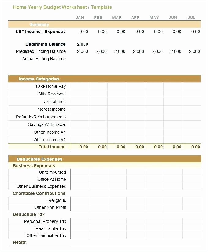 Excel Small Business Budget Template New Business Monthly Bud Template
