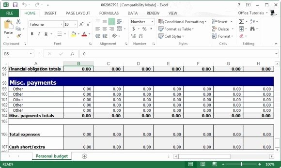 Excel Small Business Budget Template New Free Personal Bud Planner Template for Excel