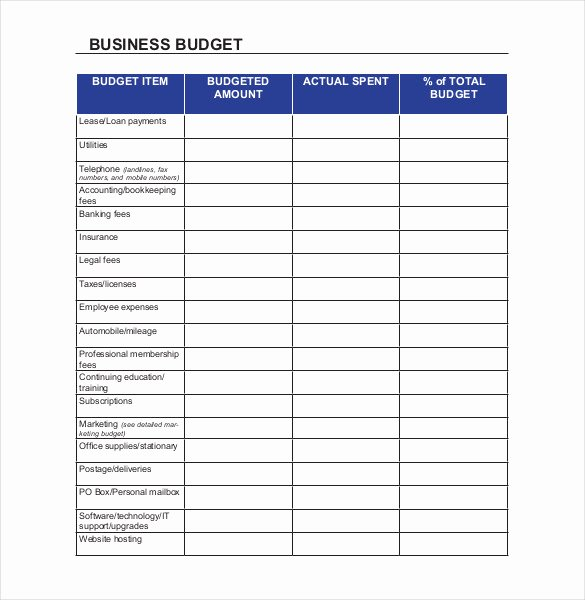 Excel Small Business Budget Template New Small Business Bud Templates