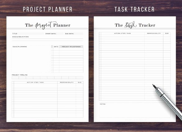 Excel Task Tracker Template Awesome Task Tracking Template – 10 Free Word Excel Pdf format