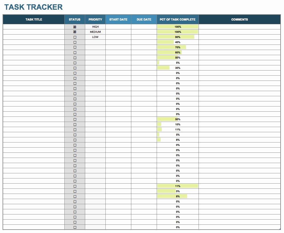 Excel Task Tracker Template Beautiful 15 Free Task List Templates Smartsheet