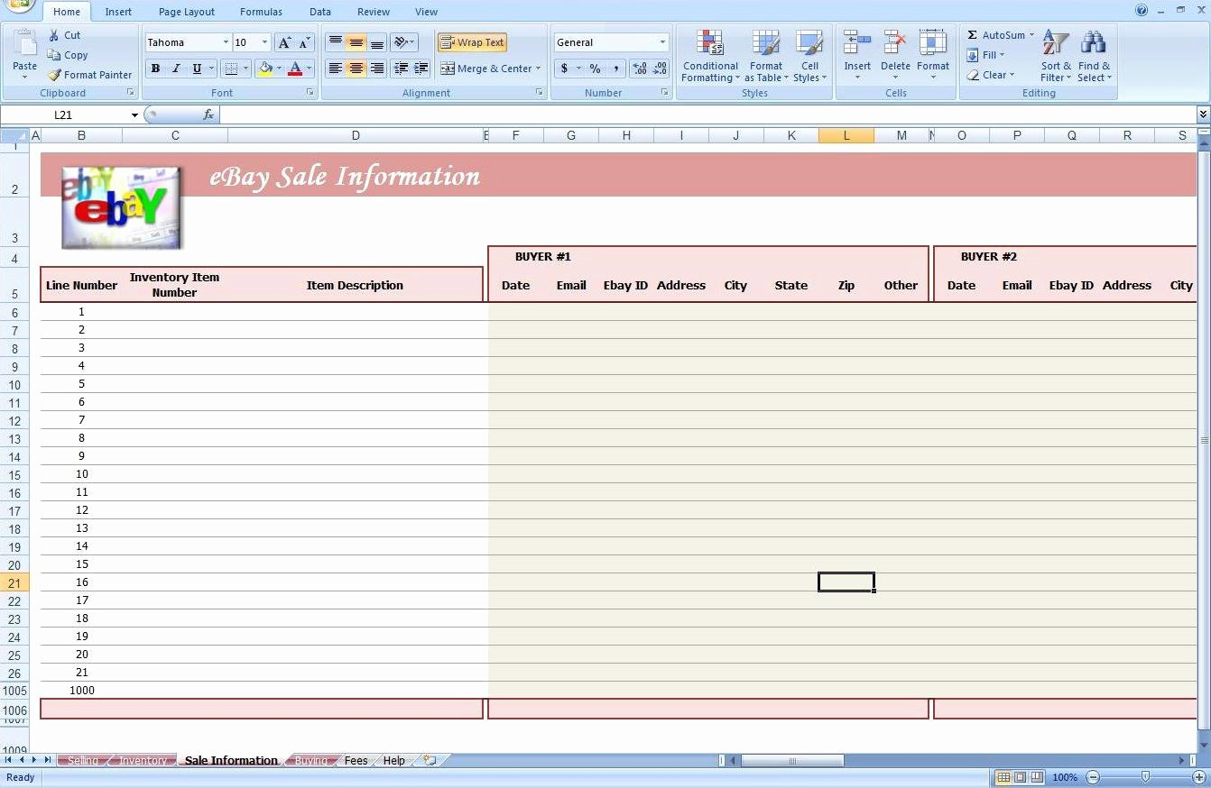 Excel Template for Sales Awesome Free Spreadsheet for Ebay Sales Ebay Spreadsheet Template