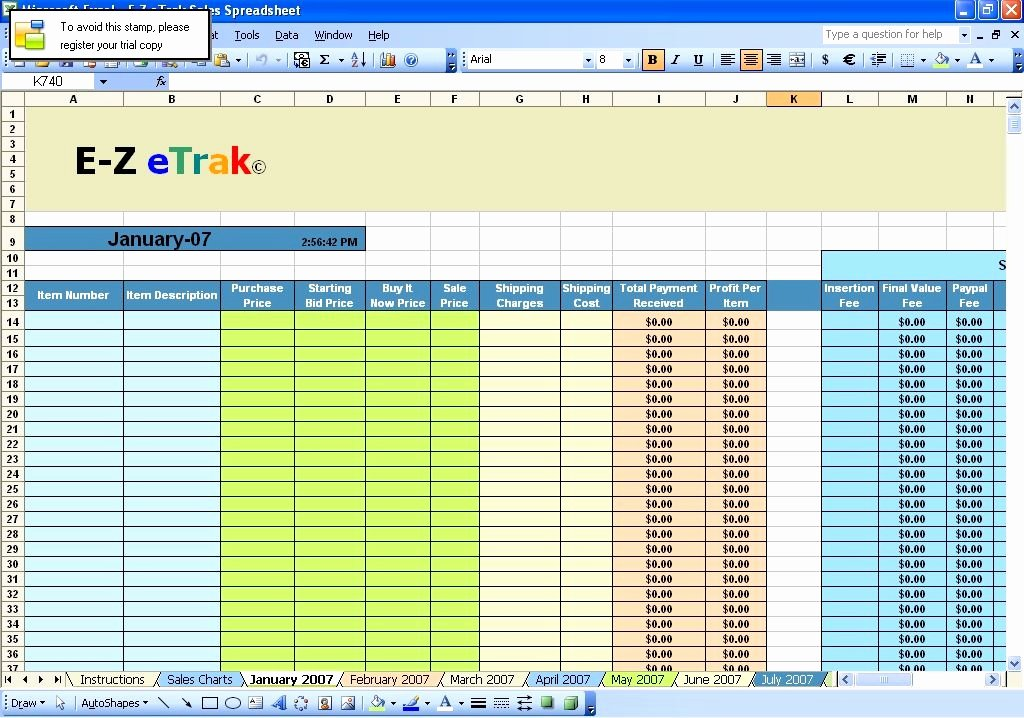 Excel Template for Sales Inspirational Ebay Excel Spreadsheet Free Download Ebay Excel