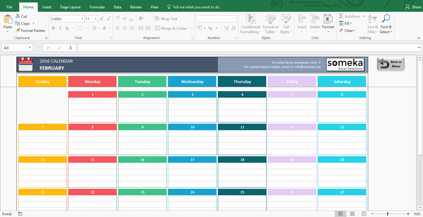 Excel Template for Sales Lovely Excel Calendar Template Free Printable Monthly Calendar