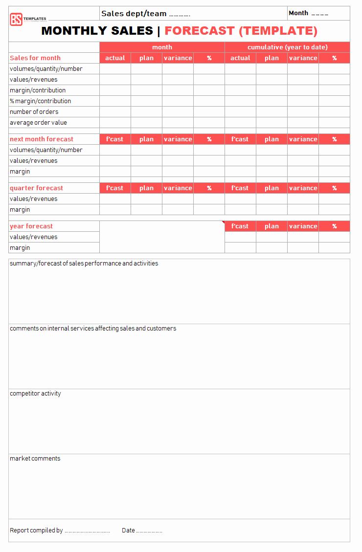 Excel Template for Sales Lovely Sales Report Templates – 10 Monthly and Weekly Sales