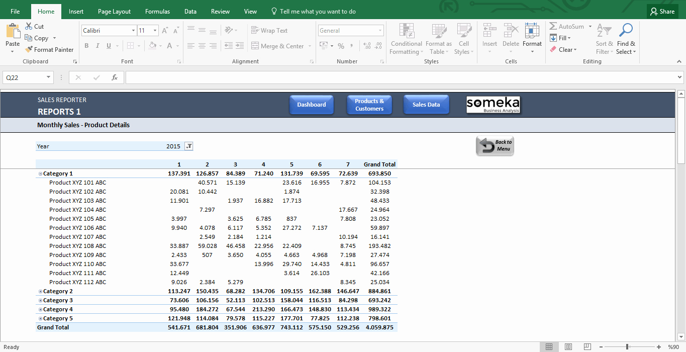Excel Template for Sales Luxury Sales Dashboard Template Professional Reporting for