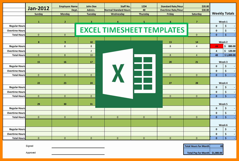 Excel Time Card Template Elegant 9 Excel Time Card Templates