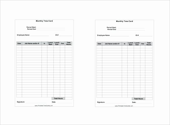 Excel Time Card Template Luxury Inspirational Image Weekly Spreadsheet Hourly Timesheet