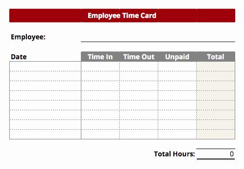 Excel Time Card Template Unique Timecard Templates Excel
