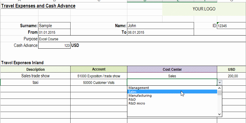 Excel Travel Expense Template Fresh Excel Travel Expense Report Template Free Detailed