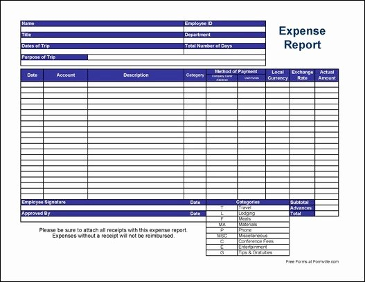 Excel Travel Expense Template Lovely Free Basic International Travel Expense Report From formville