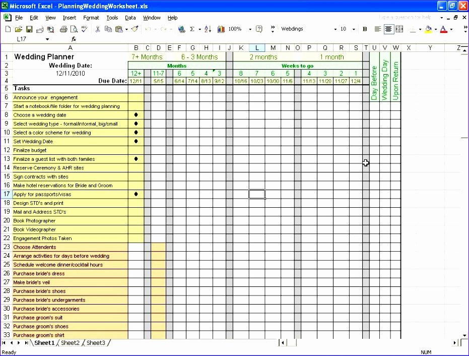 Excel Wedding Budget Template Fresh 10 Wedding Bud Planner Excel Template Exceltemplates