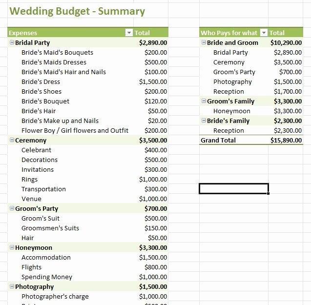 Excel Wedding Budget Template Fresh Wedding Bud Template Excel Bud Wedding